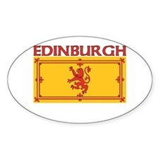 Edinburgh, Scotland Oval Decal