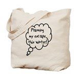 Planning Escape (Winter) Tote Bag