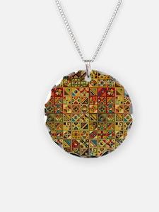 Unique Ethnicity Necklace Circle Charm