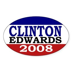 Clinton-Edwards 2008 Oval Decal
