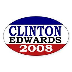 Clinton-Edwards 2008 Oval Sticker