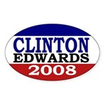 Clinton-Edwards 2008 Oval Sticker