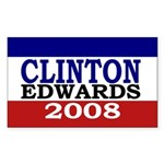 Clinton-Edwards 2008 Rectangle Sticker