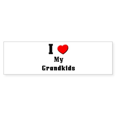 I Love Grandkids Bumper Sticker