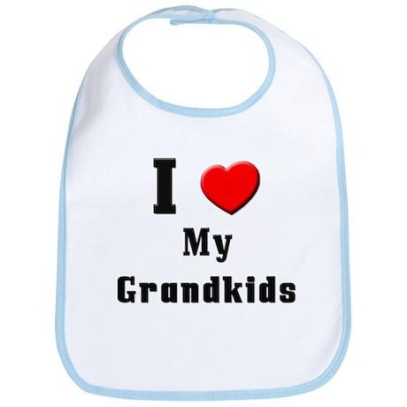 I Love Grandkids Bib