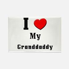 I Love Granddaddy Rectangle Magnet