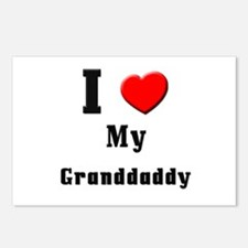 I Love Granddaddy Postcards (Package of 8)
