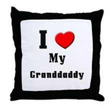 I Love Granddaddy Throw Pillow