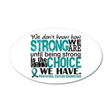 Peritoneal Cancer HowStrongW Wall Decal
