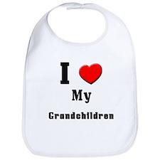 I Love Grandchildren Bib
