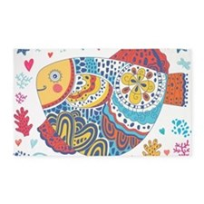 Whimsical Fish 3'x5' Area Rug
