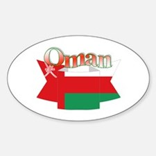 Oman flag ribbon Oval Decal