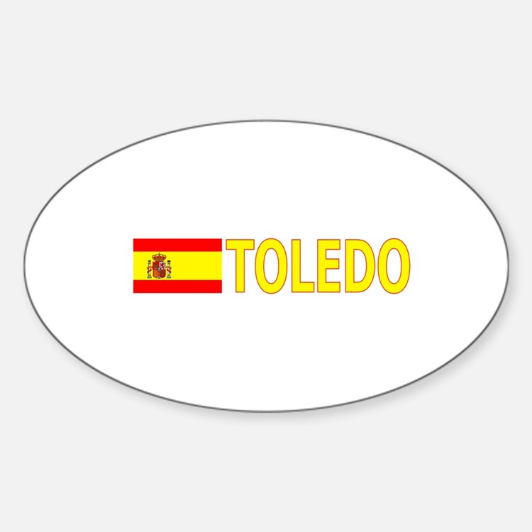 Toledo, Spain Oval Decal