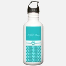 Nautical Anchor Custom Water Bottle