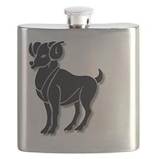 Aries Zodiac Symbol Flask