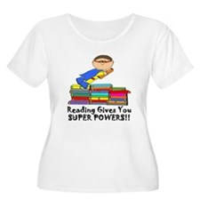 Reading Gives you Super Powers! Plus Size T-Shirt