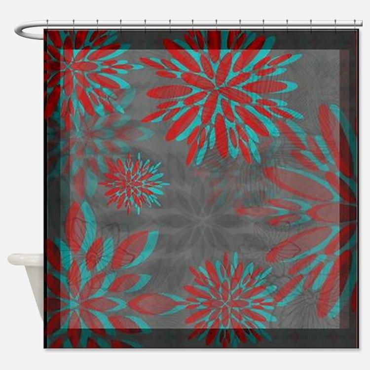 Floral Motif 4 ~ Shower Curtain