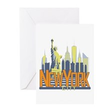 NYC Skyline Bold Greeting Cards