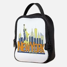 NYC Skyline Bold Neoprene Lunch Bag