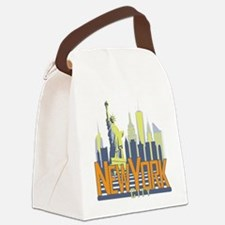 NYC Skyline Bold Canvas Lunch Bag