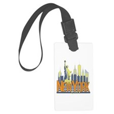 NYC Skyline Bold Luggage Tag