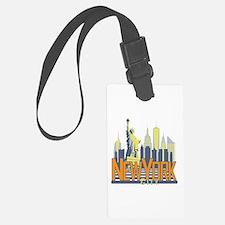 NYC Skyline Bold Luggage Tag