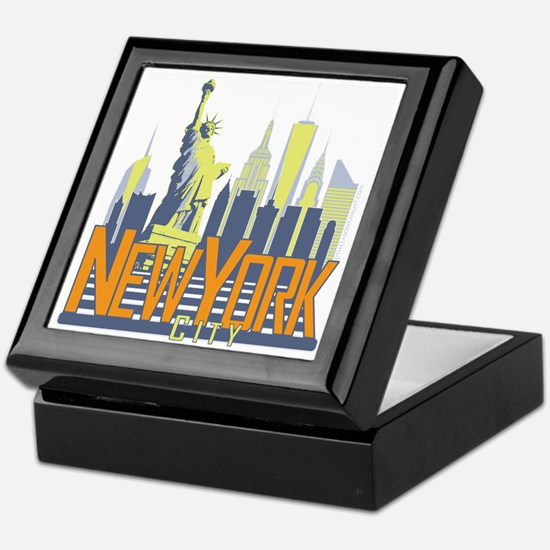 NYC Skyline Bold Keepsake Box