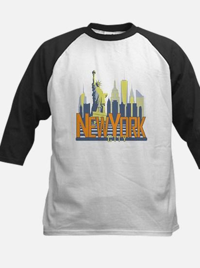 NYC Skyline Bold Baseball Jersey