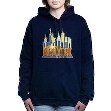 NYC Skyline Bold Women's Hooded Sweatshirt