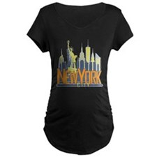 NYC Skyline Bold Maternity T-Shirt