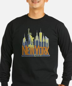 NYC Skyline Bold Long Sleeve T-Shirt