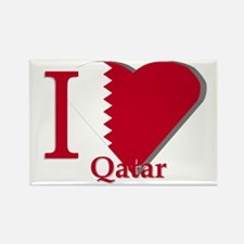 I love Qatar Rectangle Magnet
