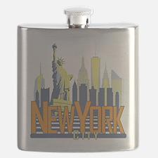 NYC Skyline Bold Flask