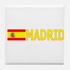Madrid, Spain Tile Coaster