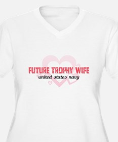 Future Trophy Wife-Navy T-Shirt