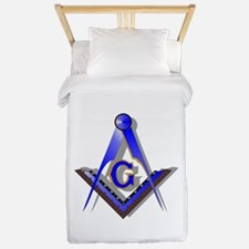 Masonic Square and Compass Twin Duvet
