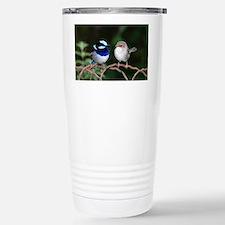 Blue Fairy Wrens Stainless Steel Travel Mug