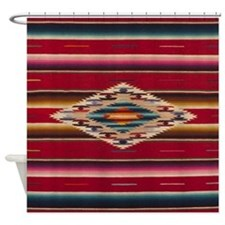 Southwest Red Saltillo Serape Shower Curtain