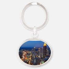 Atlanta, Georgia Oval Keychain