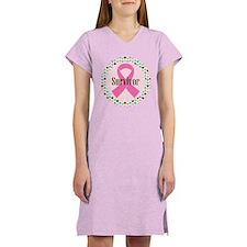 Survivor Breast Cancer Women's Nightshirt