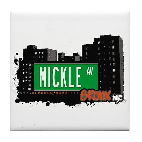 MICKLE AV, Bronx, NYC Tile Coaster