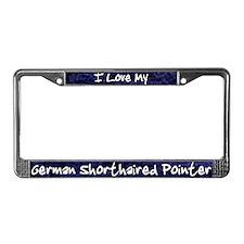 Funky Love German Shorthair License Plate Frame