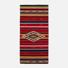 Southwest Red Saltillo Serape Beach Towel