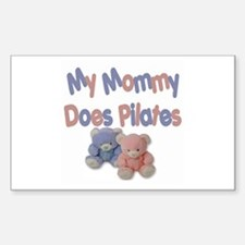 My Mommy Does Pilates Rectangle Decal