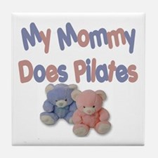 My Mommy Does Pilates Tile Coaster