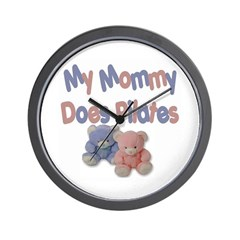 My Mommy Does Pilates Wall Clock