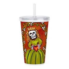 Muerta Skeleton Lady Acrylic Double-wall Tumbler