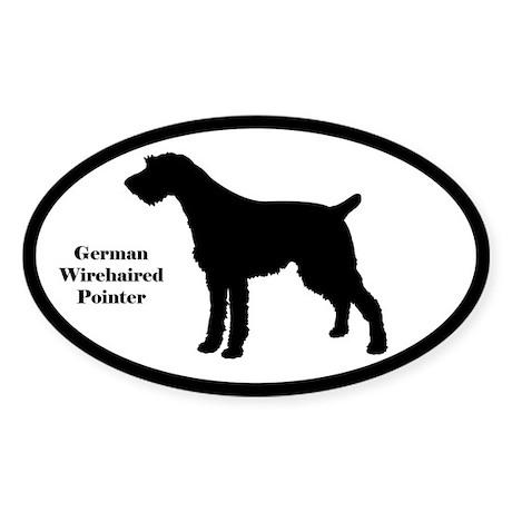 German Wirehaired Pointer Silhouette Sticker