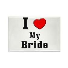 I Love Bride Rectangle Magnet
