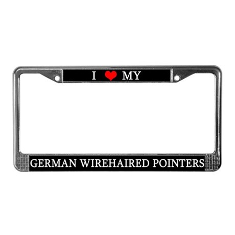Love German Wirehairs License Plate Frame